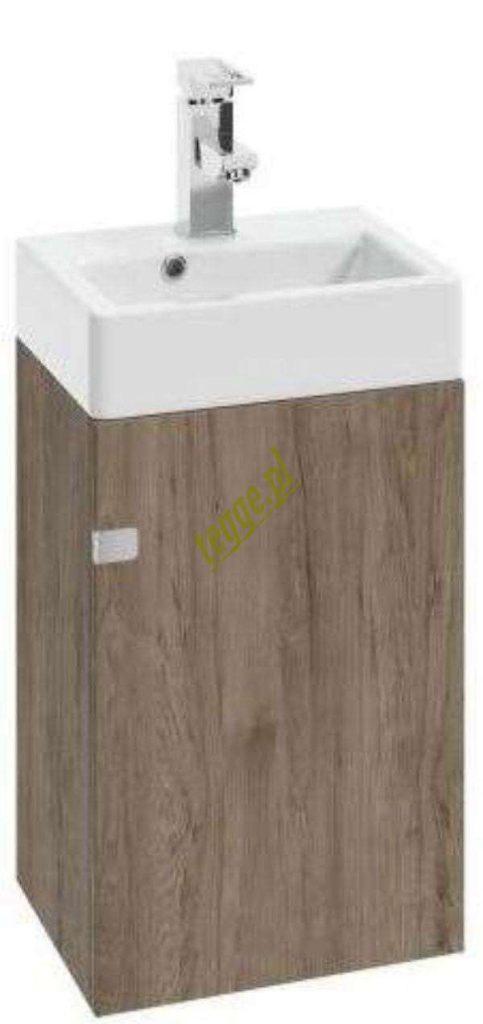 drewniana szafka pod umywalke